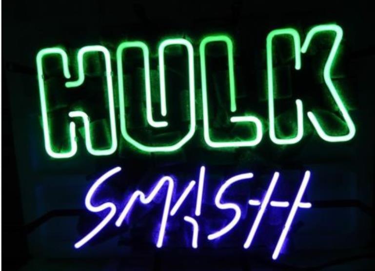 Business Custom NEON SIGN board For Marvel Green Hulk