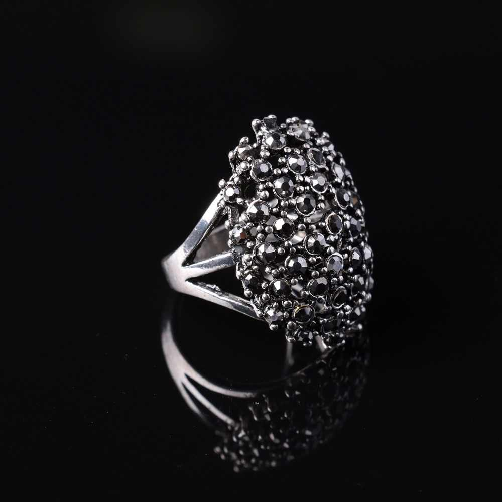 New Personalized Anneau anel feminino Silver Plated Big Mushroom Charm Men Punk Rings for Evening Party Statement Rings