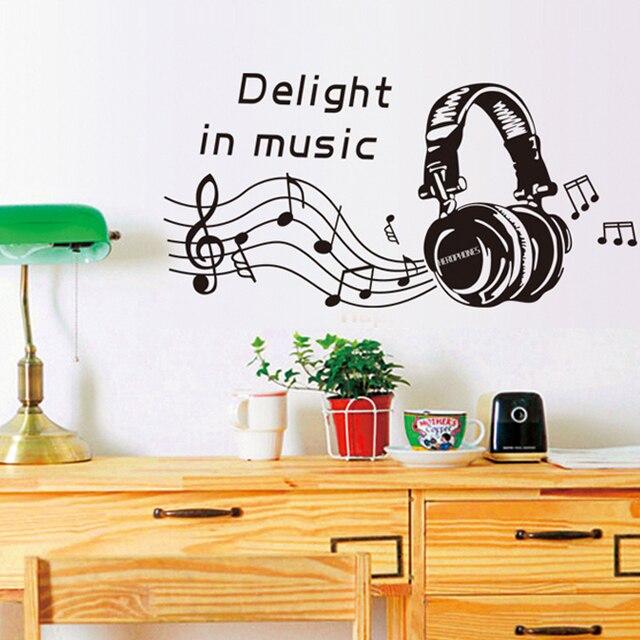 Beat. Headphones Big Headpohones Music Helmets Music Note Wall Sticker Home  Decor Vinyl Mural Art Part 97