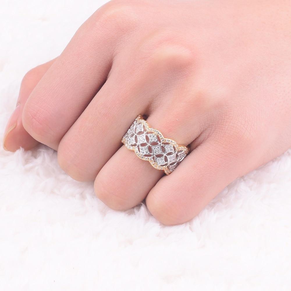Wedding Ring Jewelry Pave 256pcs Simulated DIAMOND CZ RINGS white ...