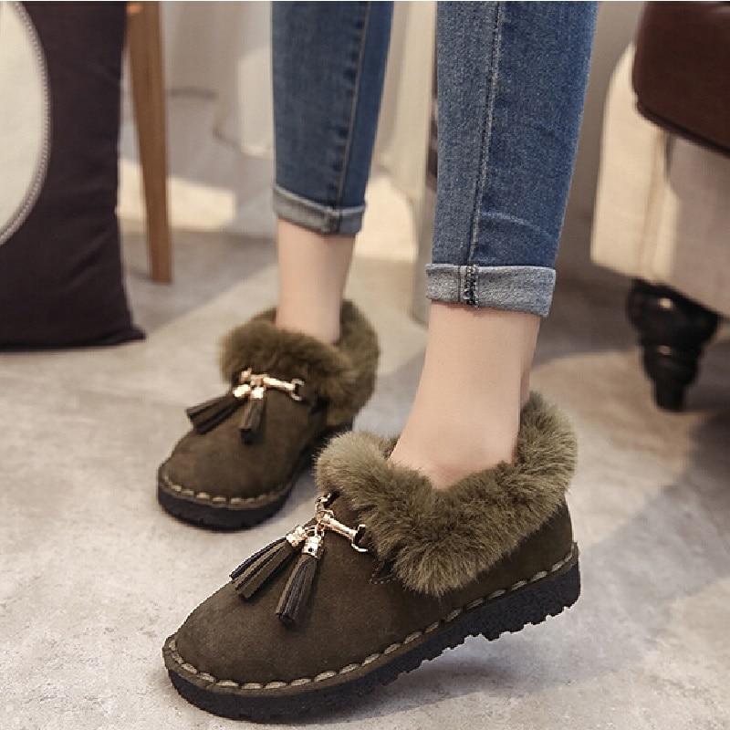 2017 Women Snow Boots Woman Ankle Fashion Korean Version Of Warm Plus Velvet Winter Shoes B2693