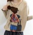 Весна и осень короткие кашемировый свитер женский свободные BianFuShan большой V воротник Пуловер подлинной кашемировый Свитер большого размера S226