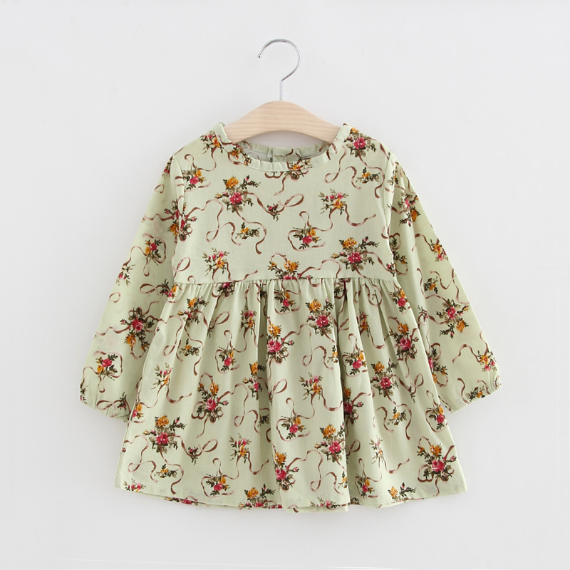 New Spring Autumn Cotton Long Sleeved Dress Baby Girls Dresses For Party Floral Costume For Kids Clothes Vestido Infantil T горный велосипед phillips ms881 51 21