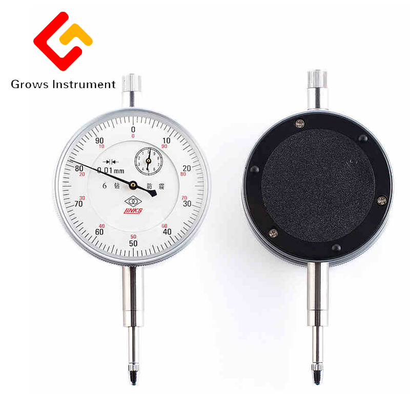 0-10mm dial six jewels dial indicator with ear indicator calibration accuracy of 0.01mm accuracy 0 05