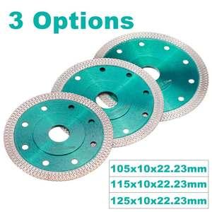 Image 3 - DOERSUPP zielony 105/115/125mm piły diamentowe ostrze spiekane siatki Turbo tarcza tnąca do granit marmur płytki ceramiczne