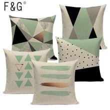 Cojín geométrico Tropical, almohadas azul turquesa, decorativo moderno, Verde turquesa, decorativo, vintage, Fundas de cojín