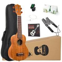 Kmise Ukulele Soprano Concert Tenor Mahogany Ukelele Uke 21 inch 15 Frets 4 String Guitar with Gig Bag Tuner Strap for Beginner