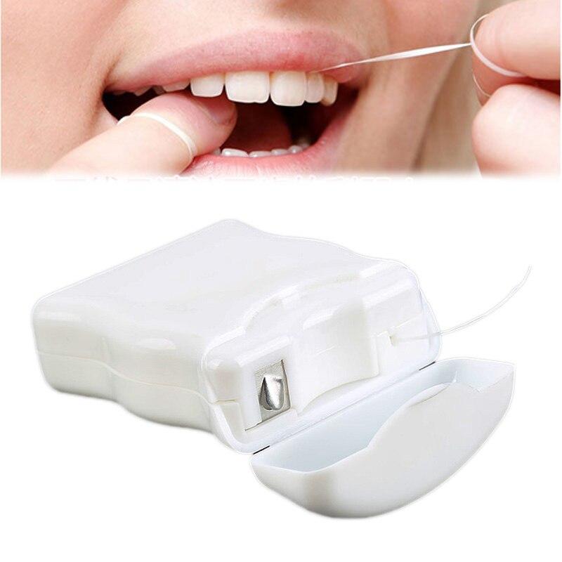 50 м портативная зубная нить Уход за полостью рта очиститель зубов с коробкой практичные гигиенические принадлежности для здоровья инструмент для ухода за полостью рта
