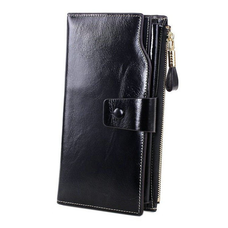 black mens leather wallets