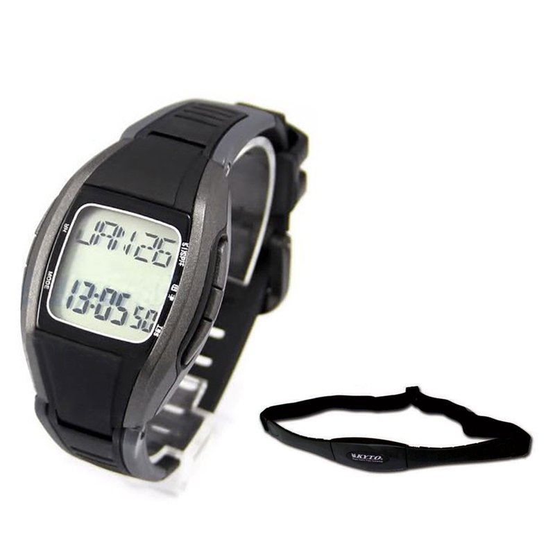 KYTO Pulse Heart Rate Monitor Calorie Counter Watch Chest Strip Belt Fitness Sports