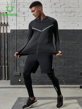 2019 Quick Dry Men's Running Sets 3/4/5pcs/sets Compression Sport Suits Basketball Tights Clothes Gym Fitness Jogging Sportswear