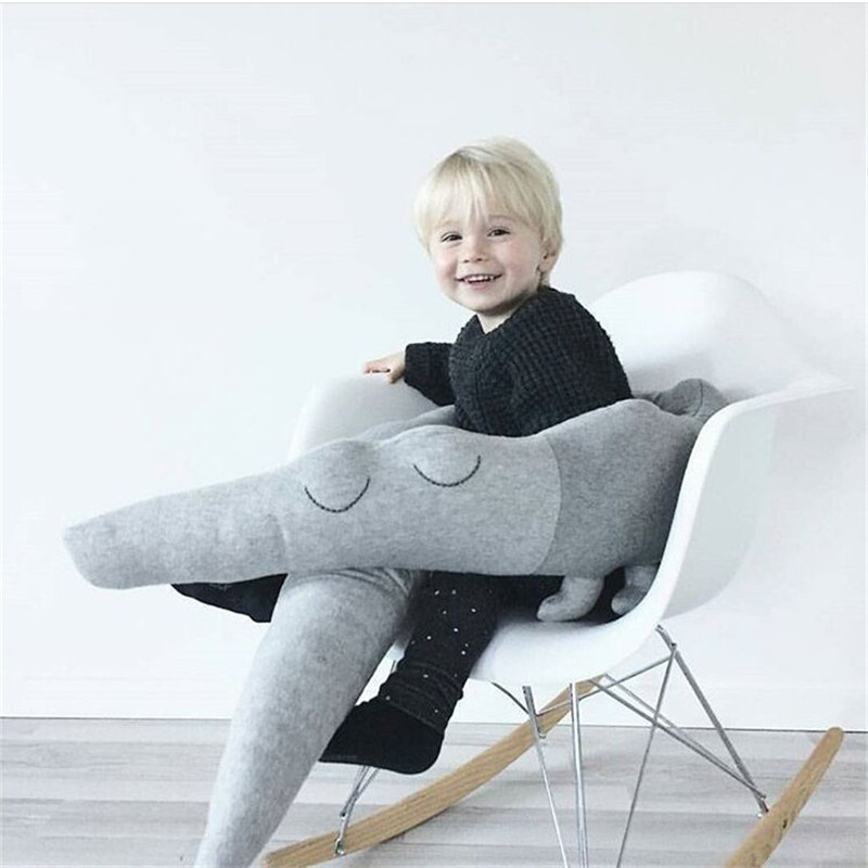 185CM Cute Long Pillow For Kids Stuffed Crocodile Toys Plush Baby Bumper Crib Bed Protector Cotton Sofa Cushion Kids Room Decor
