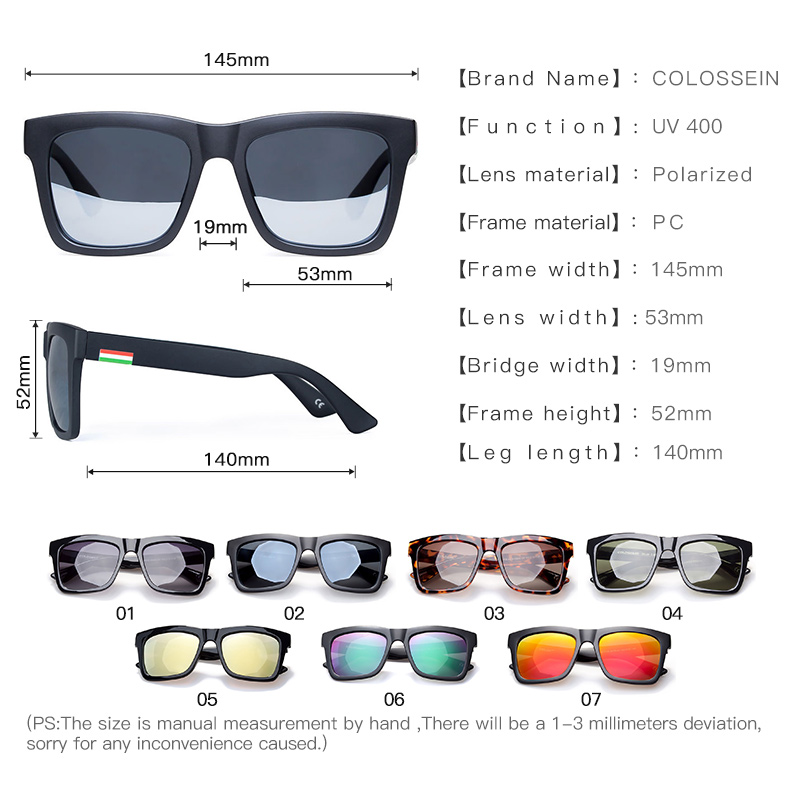 23ac210ac999 COLOSSEIN Sunglasses Women Men Polarized Lens Fashion Glasses Classic Style  Adult Popular 2018 New Eyewear Outdoor-in Sunglasses from Apparel  Accessories on ...