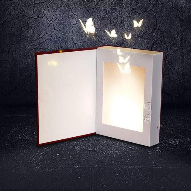 Usb Rechargeable Led Book Light Dynamic Flame Magic Night Light Led