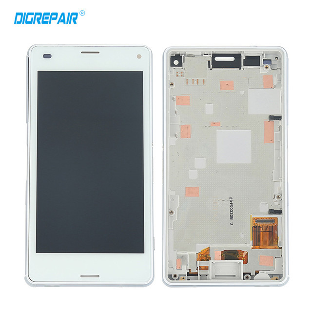"""4.3"""" inch Black white For Sony Xperia Z3 Mini Compact D5803 D5833 LCD Display Touch Screen with Digitizer+Bezel Frame,Free shipp"""