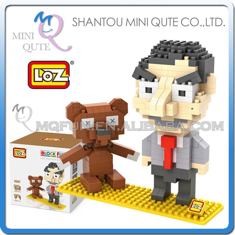 New LOZ Diamond Blocks iBLOCK FUN Mini 9507 Mr Bean Building Toys Dolls With Box