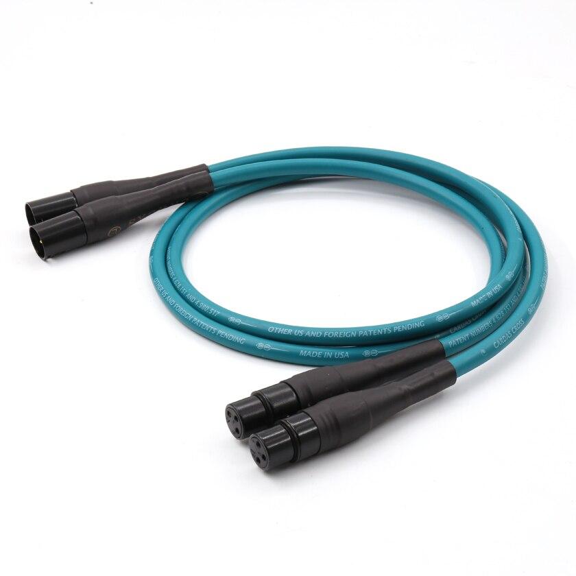 Paire de connecteurs XLR plaqués or câble d'interconnexion XLR Audio croisé Cardas