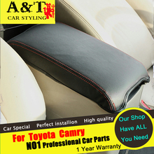 A&T For Toyota Camry Armrest cover car styling 2012-2016 For Camry Armrest Pidian central armrest Pidian interior refit Car Acce