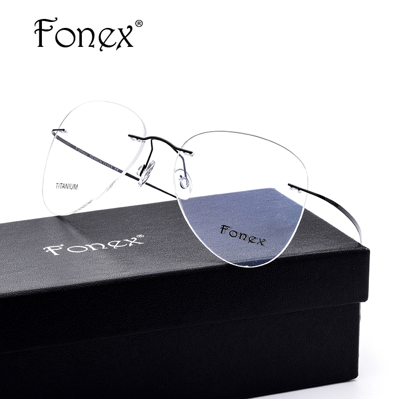 Rimless Glasses No Screws : Aliexpress.com : Buy FONEX No Screw Ultralight Women ...