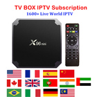 X96 MINI IPTV BOX 2GB 16GB Iptv subscription Live TV Movies channels French Arabic Italy Spain Europe M3U MAG Smart tv box
