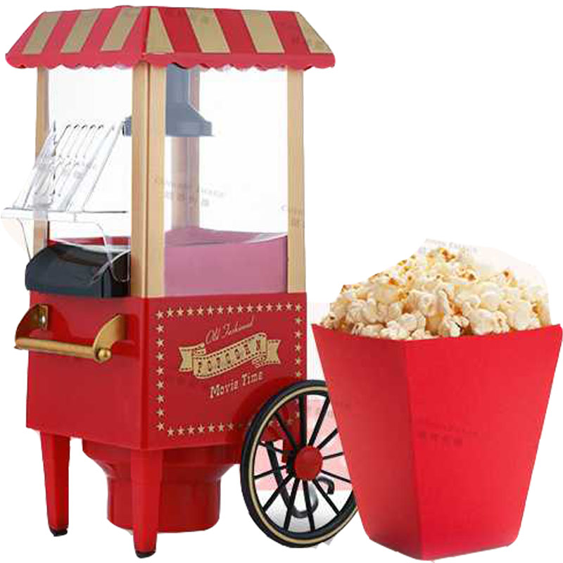 Domestic Nostalgia Electric Vintage Hot Air Popcorn Maker min size Home use household Popcorn Machine popcorn cooker high quality commercial home hot selling domestic electric gas hot air popcorn maker popcorn machine