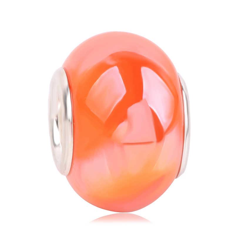 Cuentas de vidrio de 13 colores originales más novedosas para bricolaje pulsera de Pandora