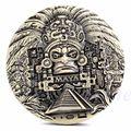 1x Mayan Aztec Calendar Souvenir Prophecy Commemorative Coin Art Collection Gift