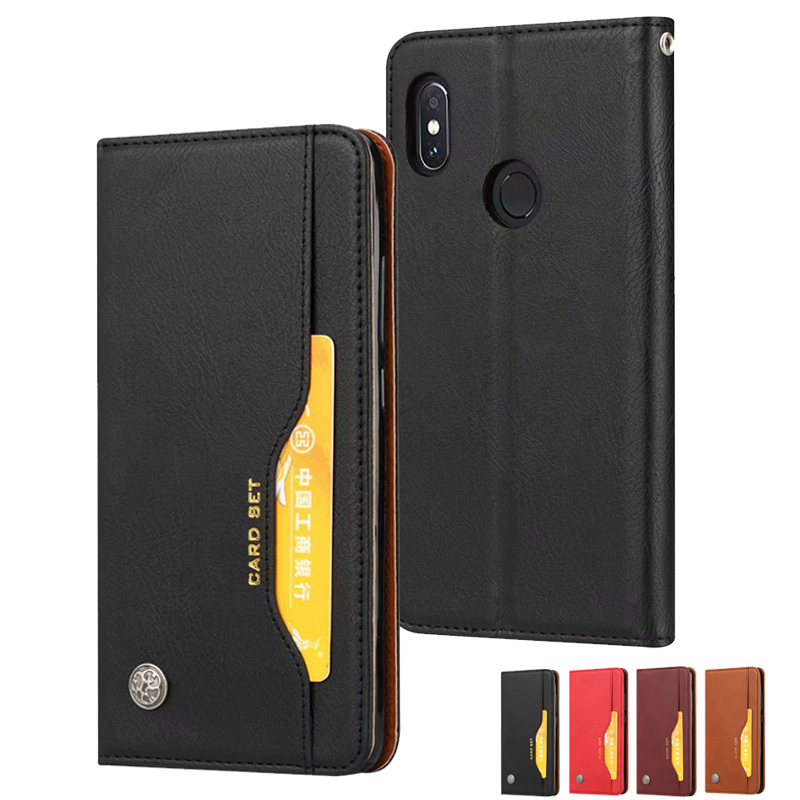 New Fashion 3d Leather Flip Case For Xiaomi Mi 8 Se 6x 5x A1 A2 Max 2 Wallet Stand Phone Cases For Redmi S2 Y2 5 Plus Note 7 5a Prime Pro Clothing, Shoes & Accessories