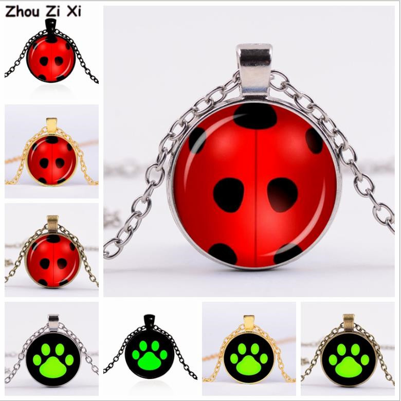 Cartoon Ladybug  Time Gem Necklace Toys