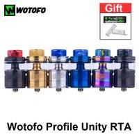Бесплатный подарок! Оригинальный Wotofo профиль Unity RTA распылитель для электронной сигареты резервуар сетки катушки электронная сигарета испа...