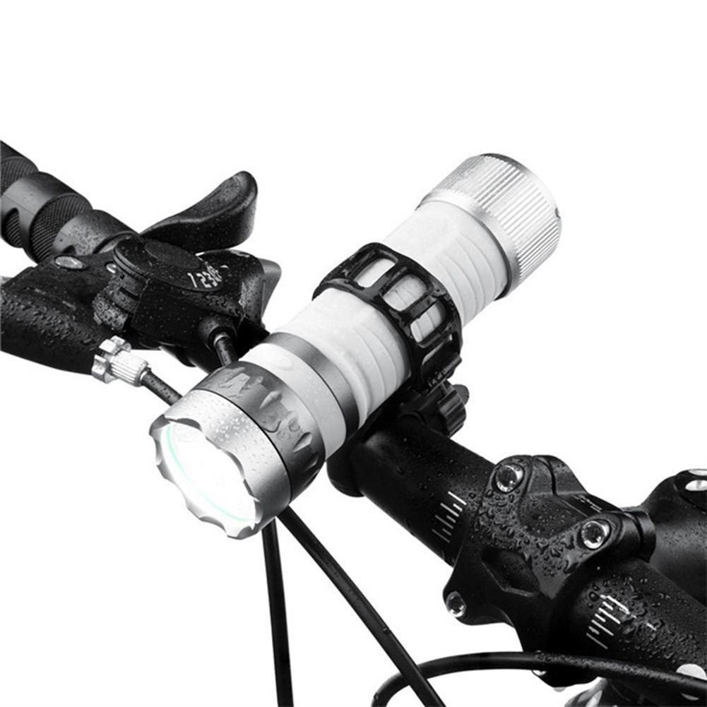 Cycling Light MTB Bike Headlight Road Bicycle Flashlight Outdoor Waterproof LED Strong Brightness Flashlight Include Battery