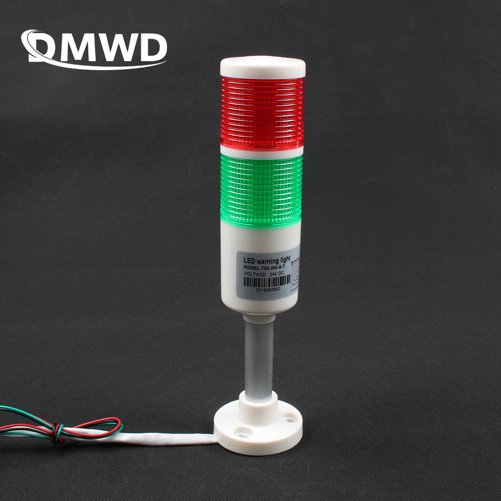 2 colors Industrial Signal Tower Safety Stack Alarm Light lamp Bulb Red Green Lamp LED White plastic indoor 2 layer with base(China)