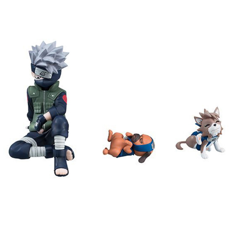 9pcsset Naruto Shippuden Figure Hatake Kakashi Eight Ren Dogs PVC Action Figures Collectible Model Toy Gift (3)