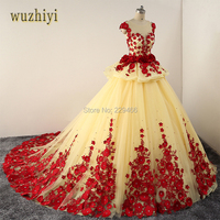 Wuzhiy New Model 2017 Luxury Evening Dress Embroidery Robe Soiree Applique Beaded Beautiful Dubai Abaya Gatsby
