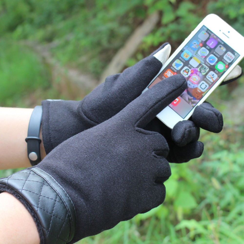 Aotu Winter Cycling Gloves Thickening Man Mobile Phone Touch Screen bicycle Gloves Warm Outdoor Wrist Mitten For Ipad For Iphone