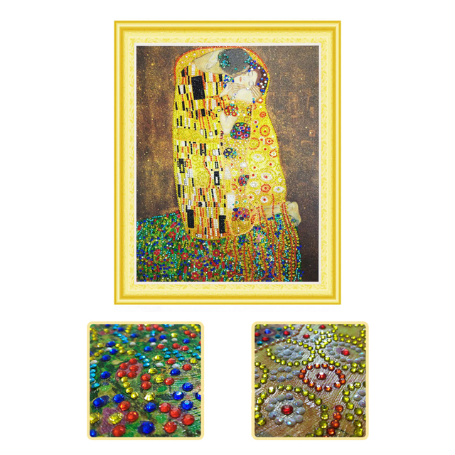 5d Diy Daimond Painting Klimt Kiss Diamant Mosaic Embroidery With