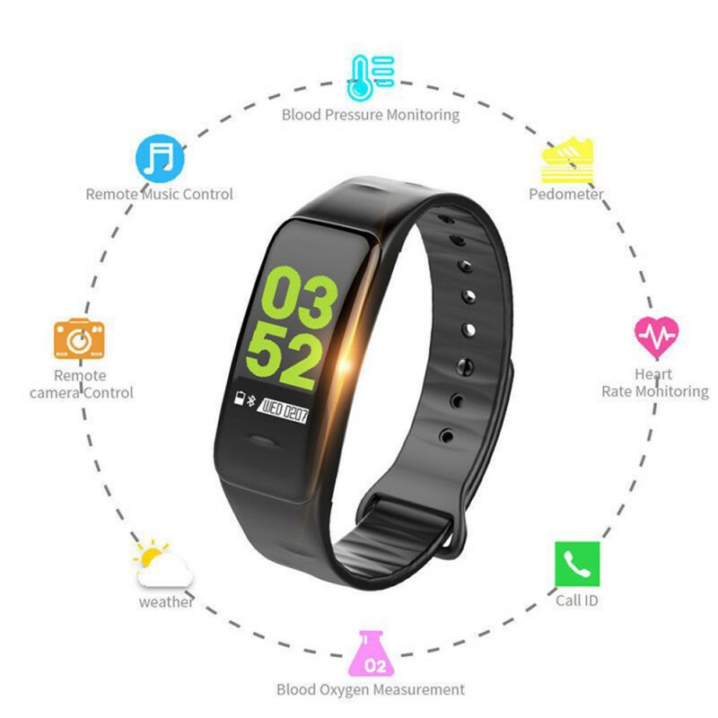 C1Plus Bracelet Smart Color Step Counter Fitness Tracker Heart Rate Blood Pressure Monitor for Android / IOS WristwatchC1Plus Bracelet Smart Color Step Counter Fitness Tracker Heart Rate Blood Pressure Monitor for Android / IOS Wristwatch