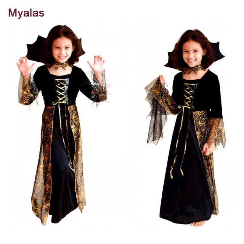 Girl Witch Cosplay Costume Spider Princess Skirt Halloween Costume for Cosplay Costume Christmas Birthday Carnaval Costume