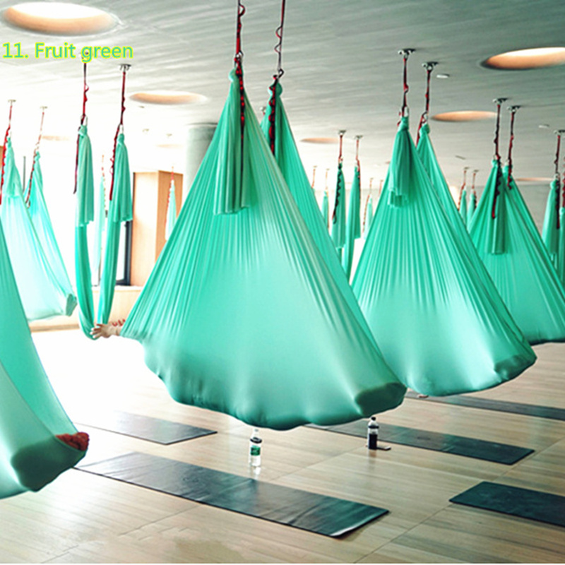 elastic 7 meters Aerial Yoga Hammock set Latest Multifunction Anti gravity Yoga Swing belts for yoga