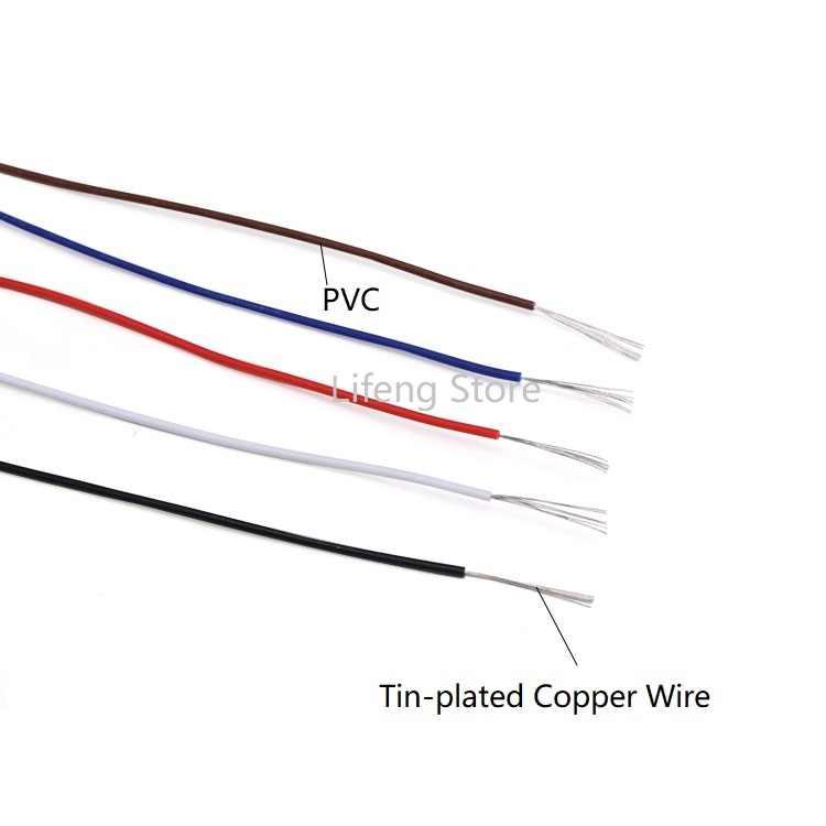 UL1517 26AWG PVC fil électronique OD 1mm câble Flexible isolé en cuivre étamé ligne de LED environnementale bricolage cordon coloré