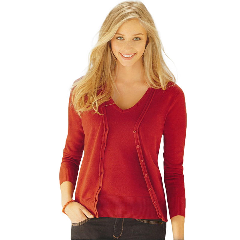 Buy Women Long Sleeve Knitwear Jumper Cardigan Coat And Get Free