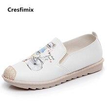 Cresfimix chaussures plates pour femmes women casual comfortable canvas