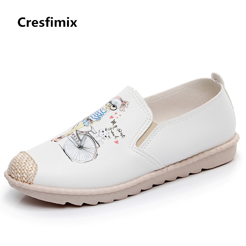 Cresfimix chaussures plates pour femmes women casual comfortable canvas flat shoes female cute spring & summer slip on loafers cresfimix women cute spring