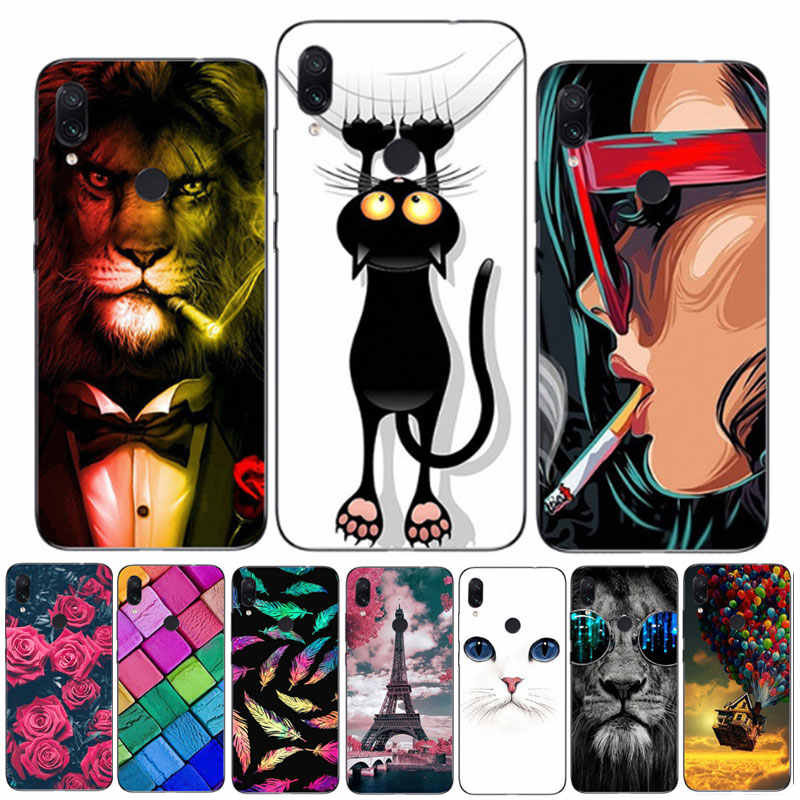 For Xiaomi Redmi Note 7 Case Redmi Note 7 Silicone Soft Bumper Print Cover Phone Case on Xiomi Redmi Note 7S Note7 Pro Cases 6.3