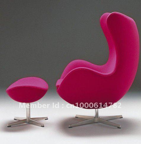 top end replica egg chair in chaise lounge from furniture. Black Bedroom Furniture Sets. Home Design Ideas