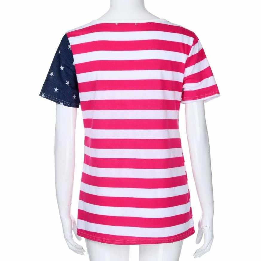 905650af17fcd ... American Independence Day Womens Sleeveless Blouse Patriotic Stripes  Star American Flag Print Tank Top Roupa Feminina ...