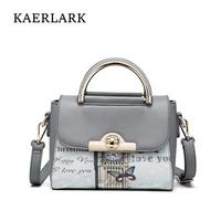 Kaerlark Brand 2017 Bolsos Mujer Female Small Mini Shoulder S Bag Women Ladies Girl Butterfly Leather