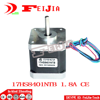 Hot Best selling 4 PCS / lot 4-lead Nema 17 Stepper Motor 42 motor 17HS8401 1.8A CE ROSH ISO CNC Laser Grind Foam Plasma Cut