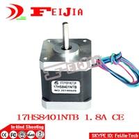 Hot Besten verkauf 4 Teile/los 4-leiter Nema 17 Schrittmotor 42 motor 17HS8401 1.8A CE ROSH ISO Cnc Laser-schleifen-schaum Plasma Cut