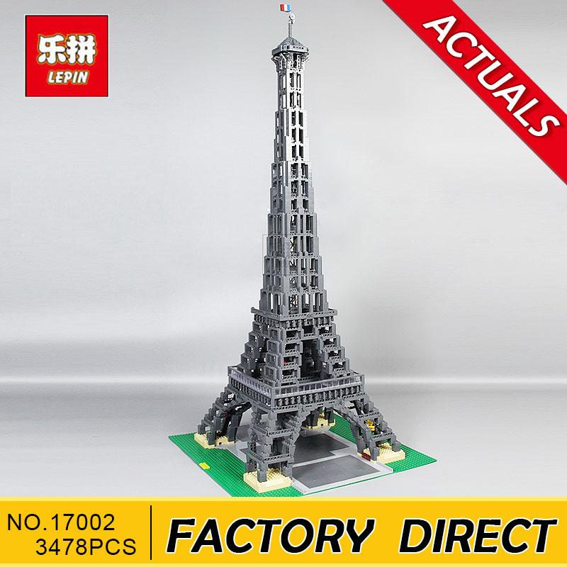 Lepin 17002 3478pcs The Eiffel Tower Model Building Kits Set Brick Toys Compatible 10181 Christmas Gift